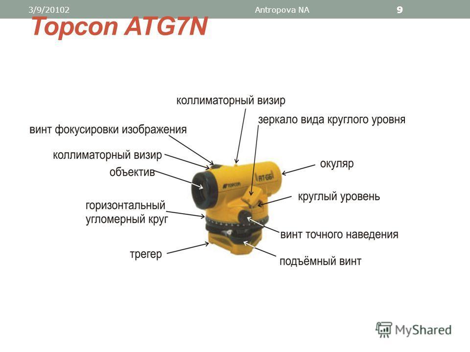 2. Устройство оптических нивелиров 3/9/20102Antropova NA 8