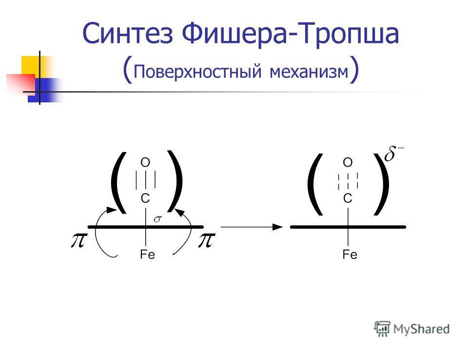Синтез Фишера-Тропша ( Поверхностный механизм )