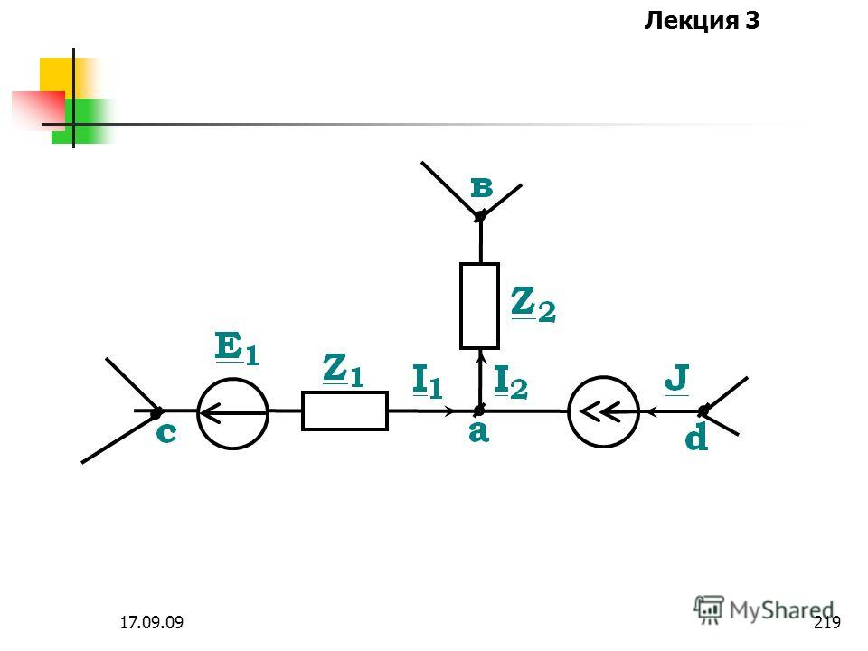 Лекция 3 17.09.09218 Получим расчетное уравнение метода узловых потенциалов для узла а некоторой схемы