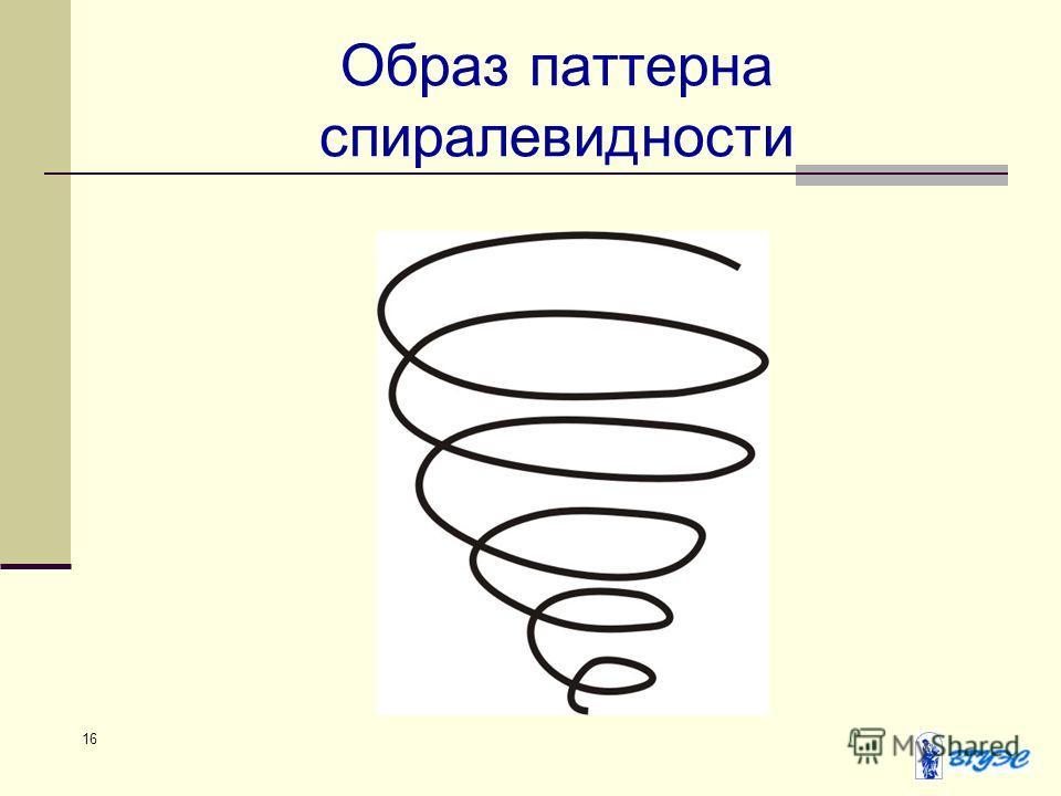 16 Образ паттерна спиралевидности
