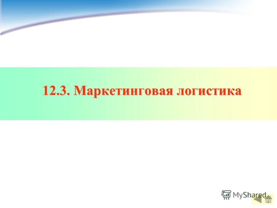 12.3. Маркетинговая логистика