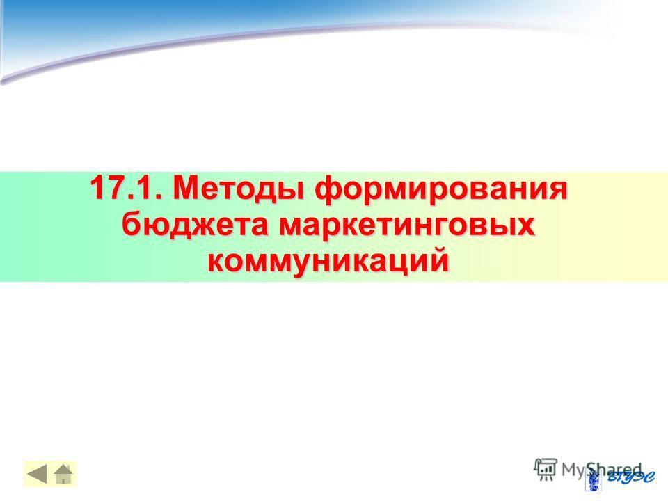 17.1. Методы формирования бюджета маркетинговых коммуникаций 44