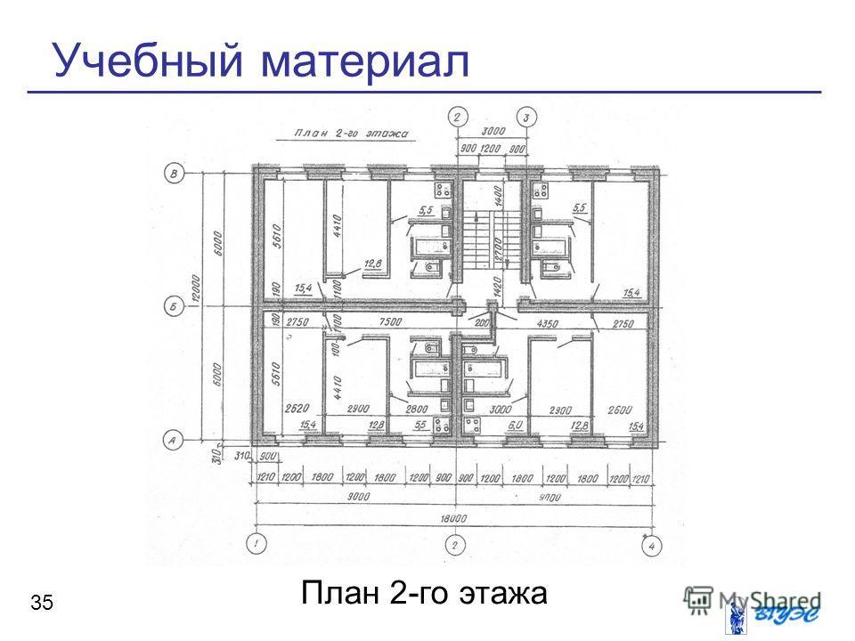 Учебный материал 35 План 2-го этажа