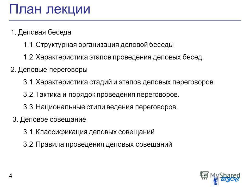 Деловые переговоры 3.1.