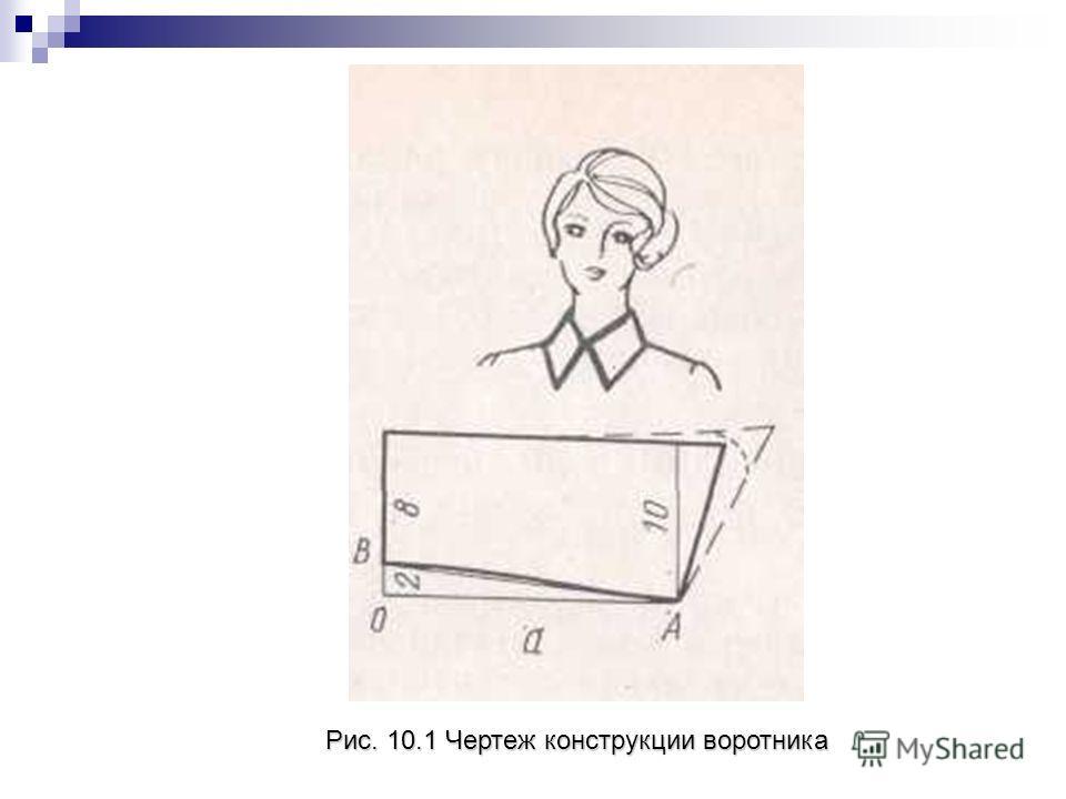 Рис. 10.1 Чертеж конструкции воротника