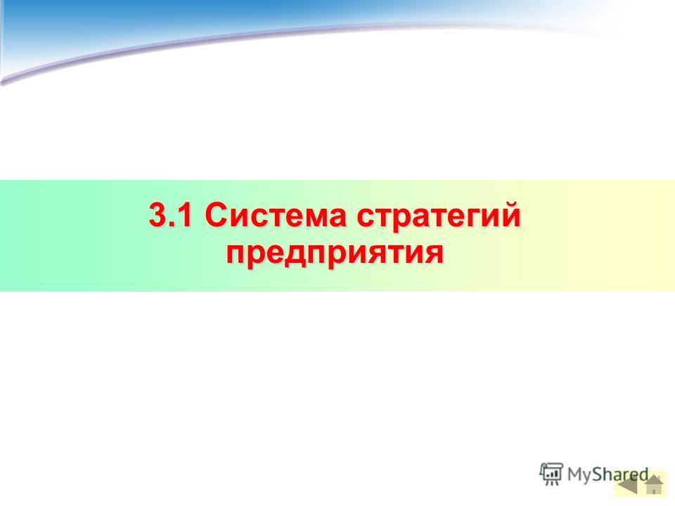 3.1 Система стратегий предприятия