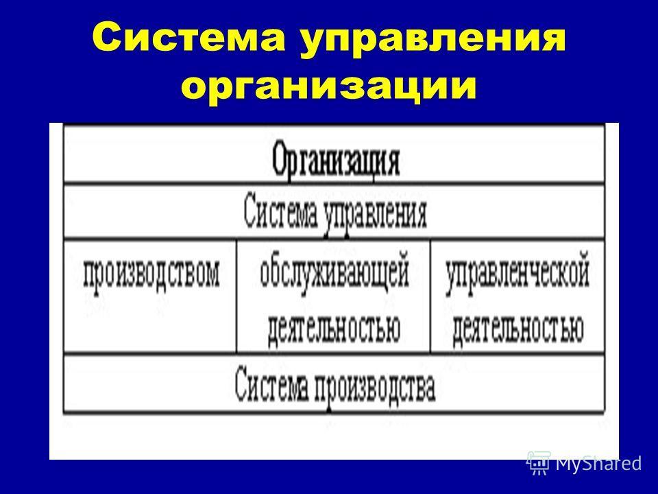 Система управления организации