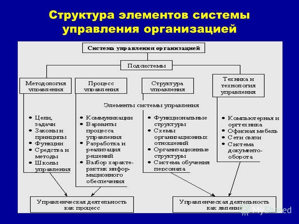 5 Структура элементов системы управления организацией