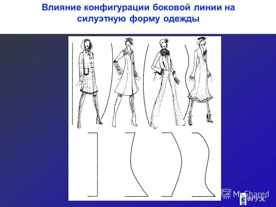 Влияние конфигурации боковой линии на силуэтную форму одежды