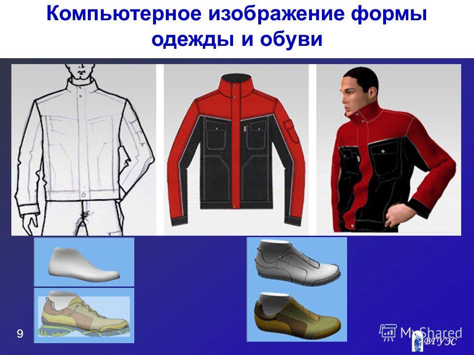 9 Компьютерное изображение формы одежды и обуви