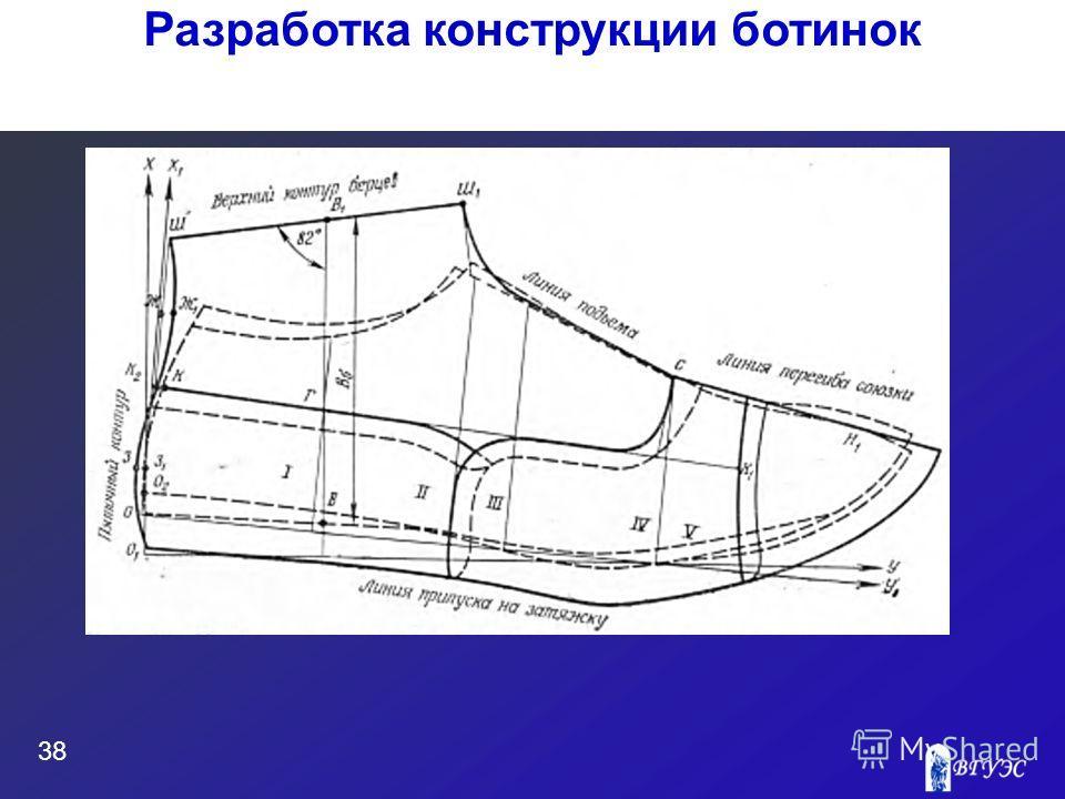 38 Разработка конструкции ботинок