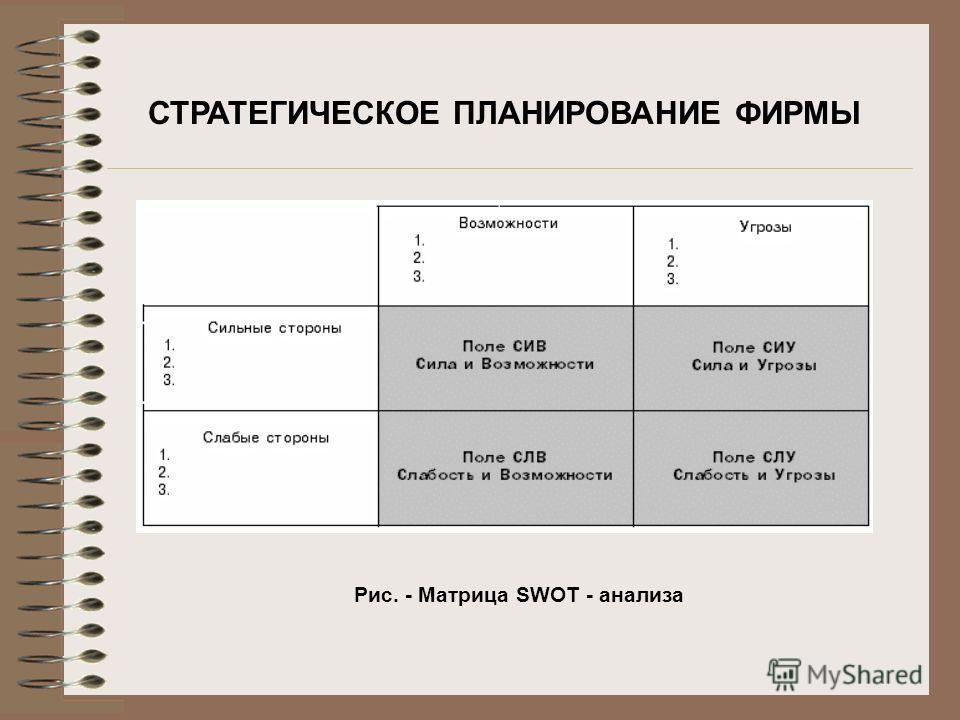 Рис. - Матрица SWOT - анализа