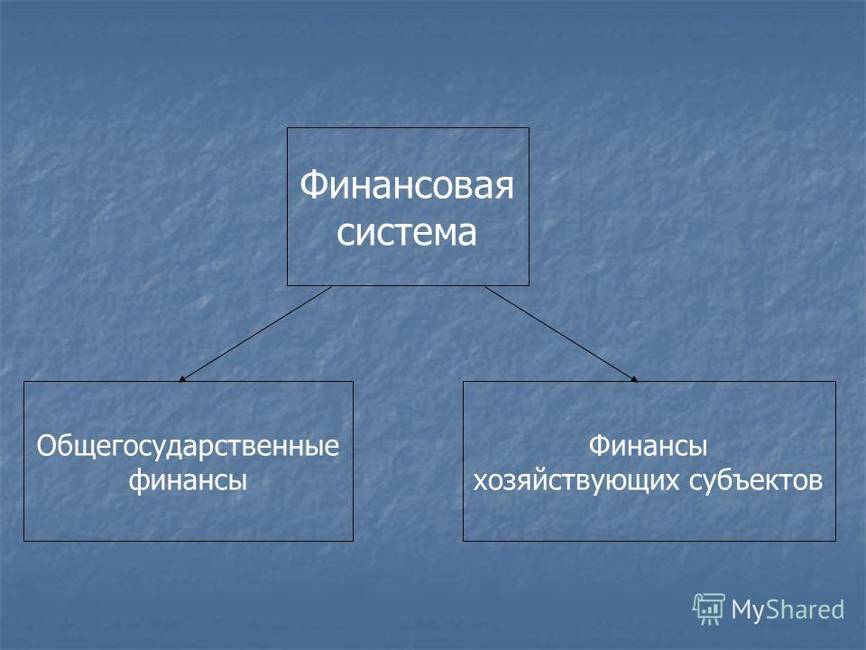 Финансовая система Общегосударственные финансы Финансы хозяйствующих субъектов