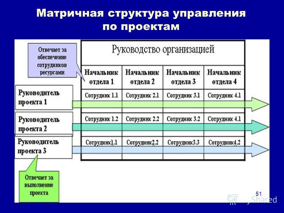 51 Матричная структура управления по проектам 51