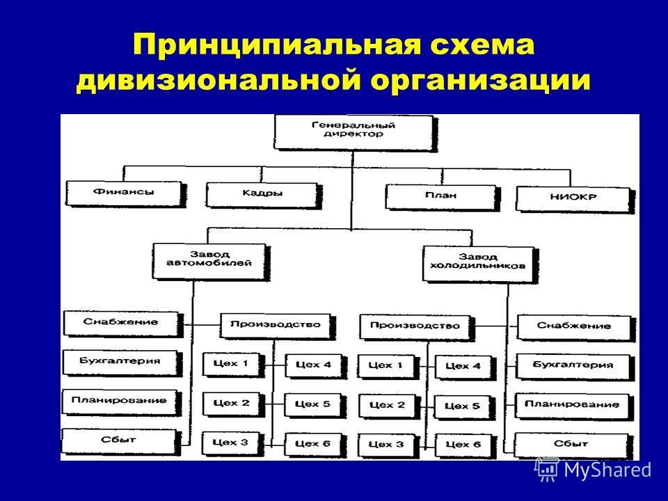 Принципиальная схема дивизиональной организации