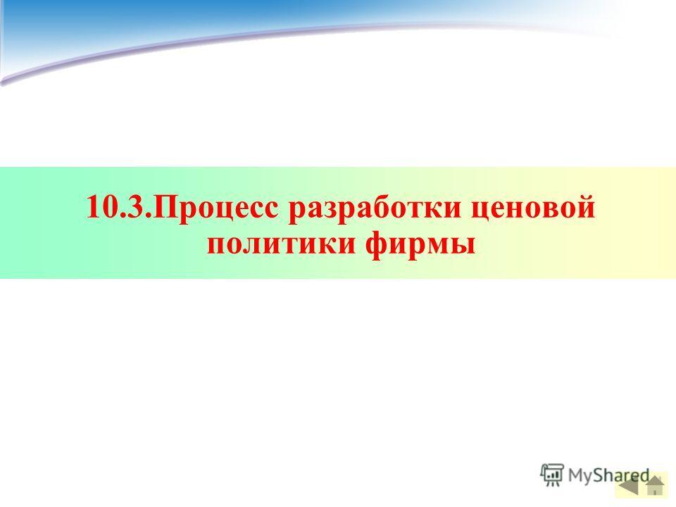 10.3.Процесс разработки ценовой политики фирмы