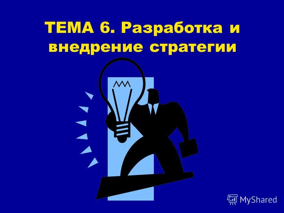 ТЕМА 6. Разработка и внедрение стратегии