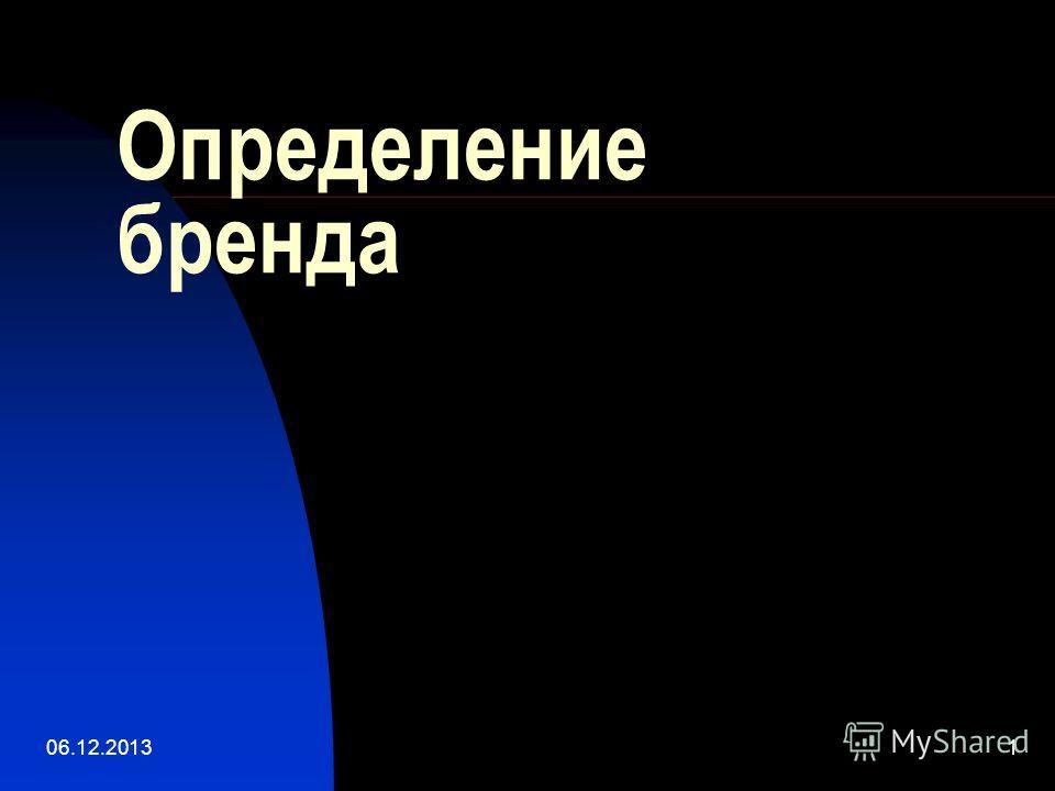 06.12.20131 Определение бренда