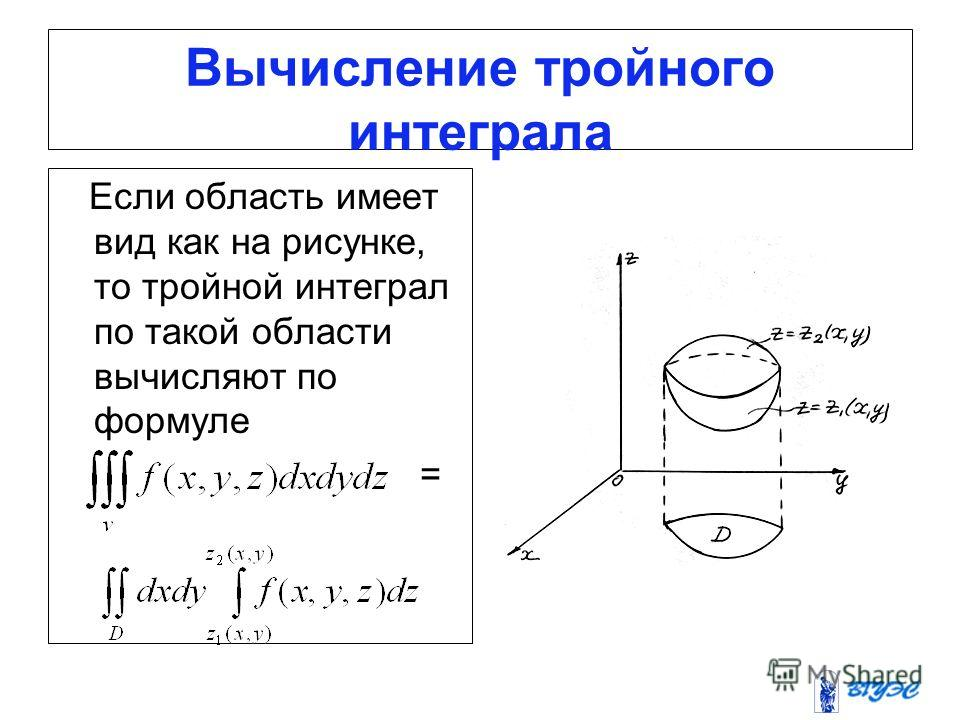 Решебник тройного интеграла онлайн