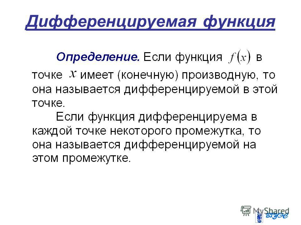 Дифференцируемая функция