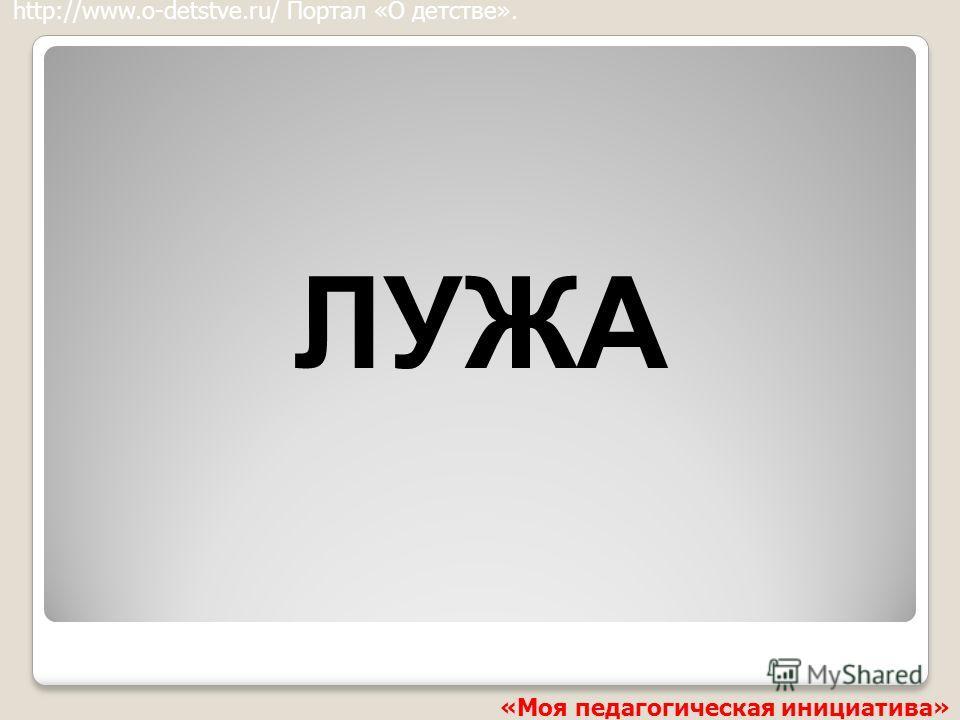 ЛУЖА http://www.o-detstve.ru/ Портал «О детстве». «Моя педагогическая инициатива»
