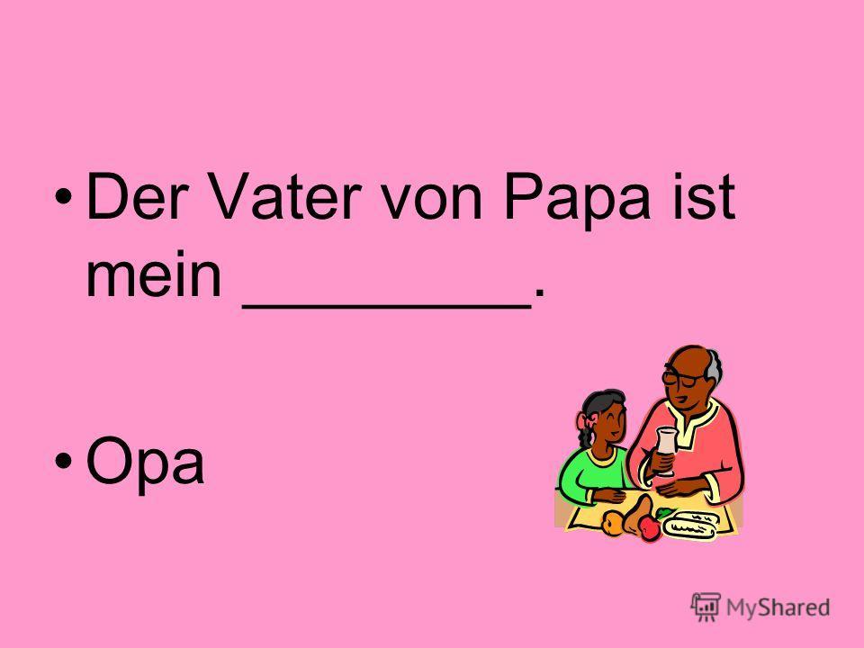 Der Vater meiner Schwester ist mein __________. Vater