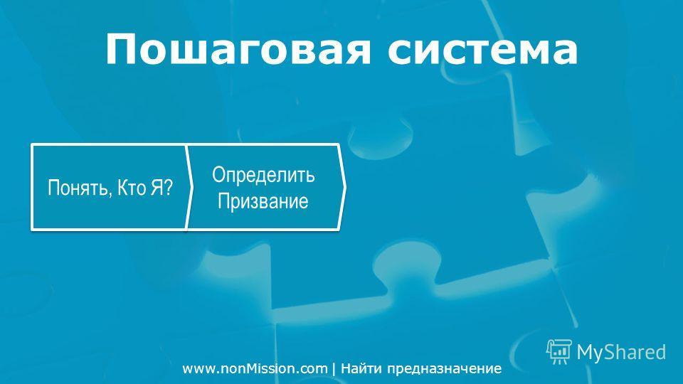 www.nonMission.com | Найти предназначение Определить Призвание Понять, Кто Я? Пошаговая система
