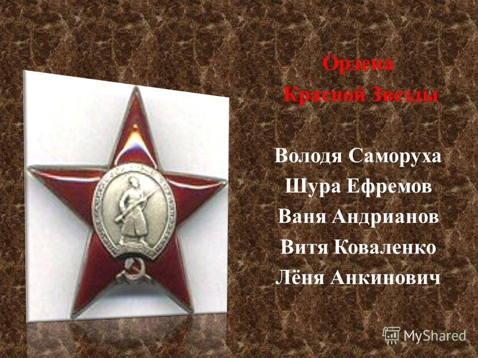 Ордена Отечественной войны 1- й степени Ордена Отечественной войны 1- й степени Валерий Волков Саша Ковалёв