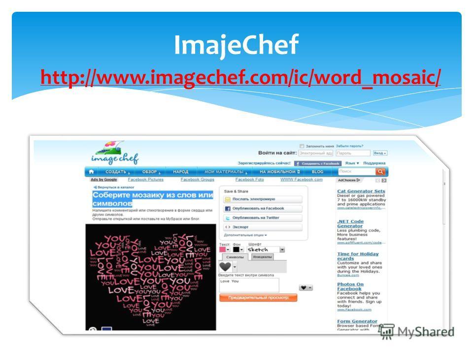 http://www.imagechef.com/ic/word_mosaic/ ImajeChef