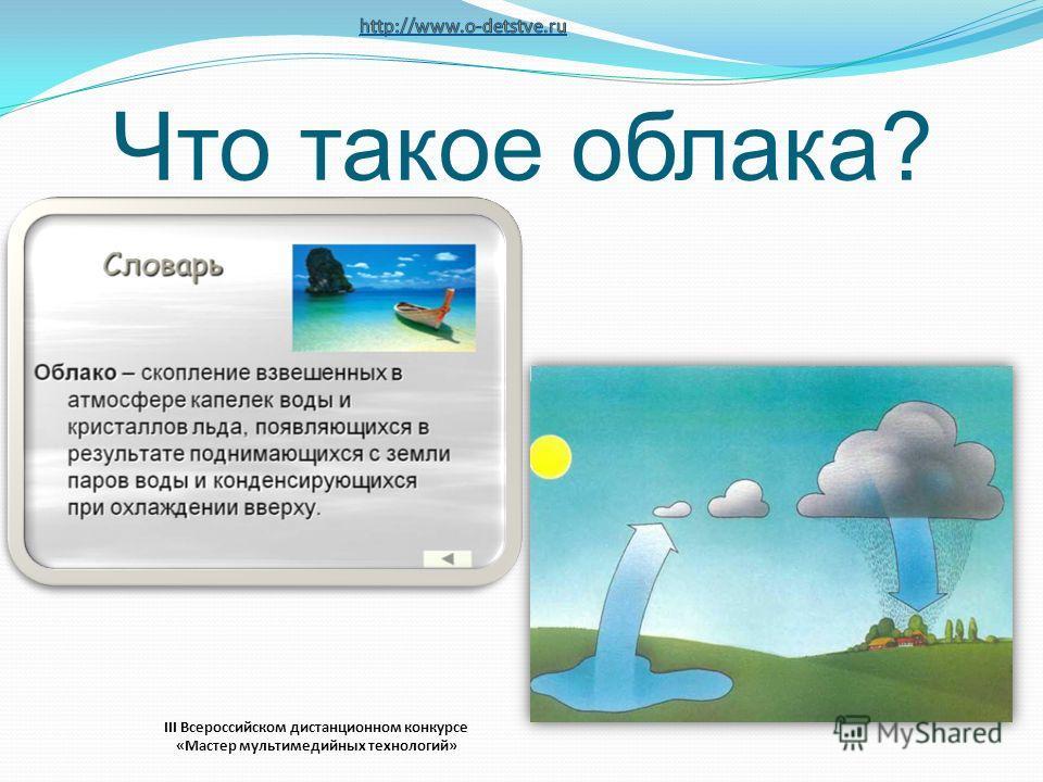 Что такое облака? III Всероссийском дистанционном конкурсе «Мастер мультимедийных технологий»