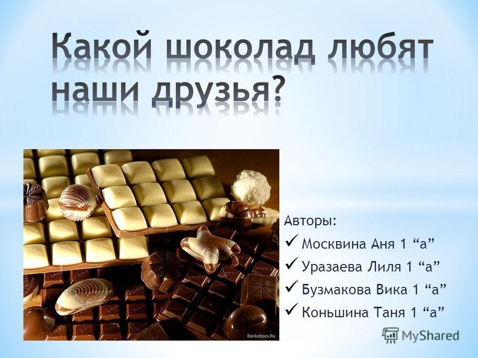 Авторы: Москвина Аня 1 а Уразаева Лиля 1 а Бузмакова Вика 1 а Коньшина Таня 1 а