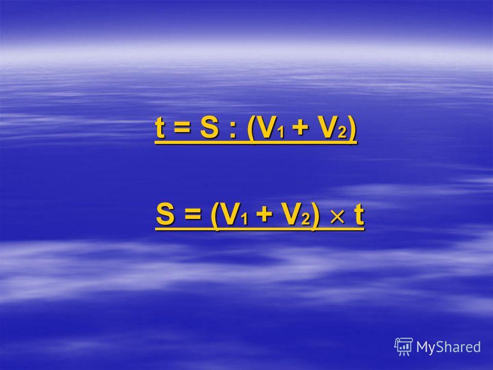 t = S : (V 1 + V 2 ) t = S : (V 1 + V 2 ) S = (V 1 + V 2 ) t S = (V 1 + V 2 ) t