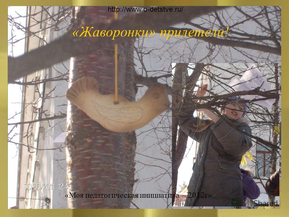 «Жаворонки» прилетели! http://www.o-detstve.ru/ «Моя педагогическая инициатива – 2012г»