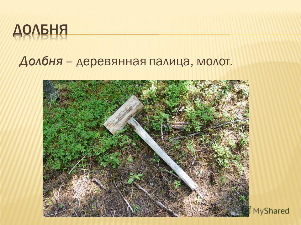 Долбня – деревянная палица, молот.