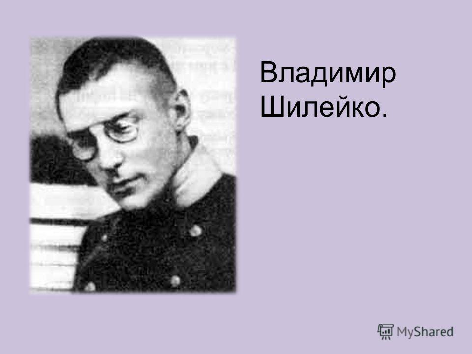 Владимир Шилейко.