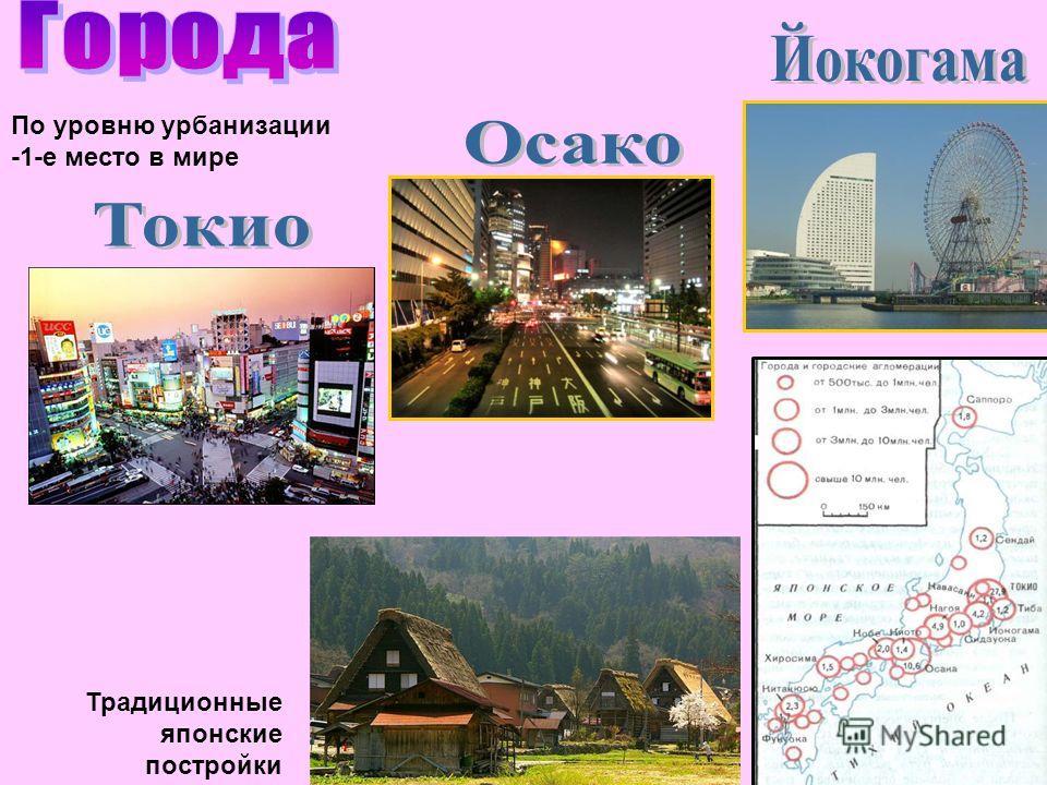 По уровню урбанизации -1-е место в мире Традиционные японские постройки