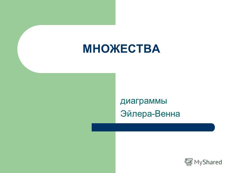 МНОЖЕСТВА диаграммы Эйлера-Венна