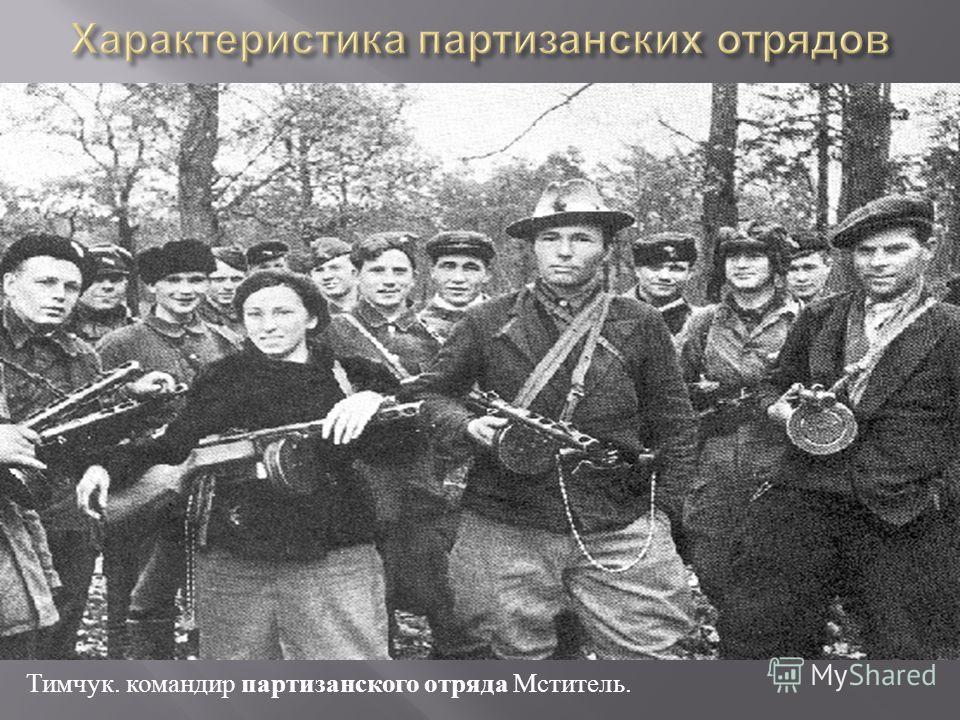 Тимчук. командир партизанского отряда Мститель.