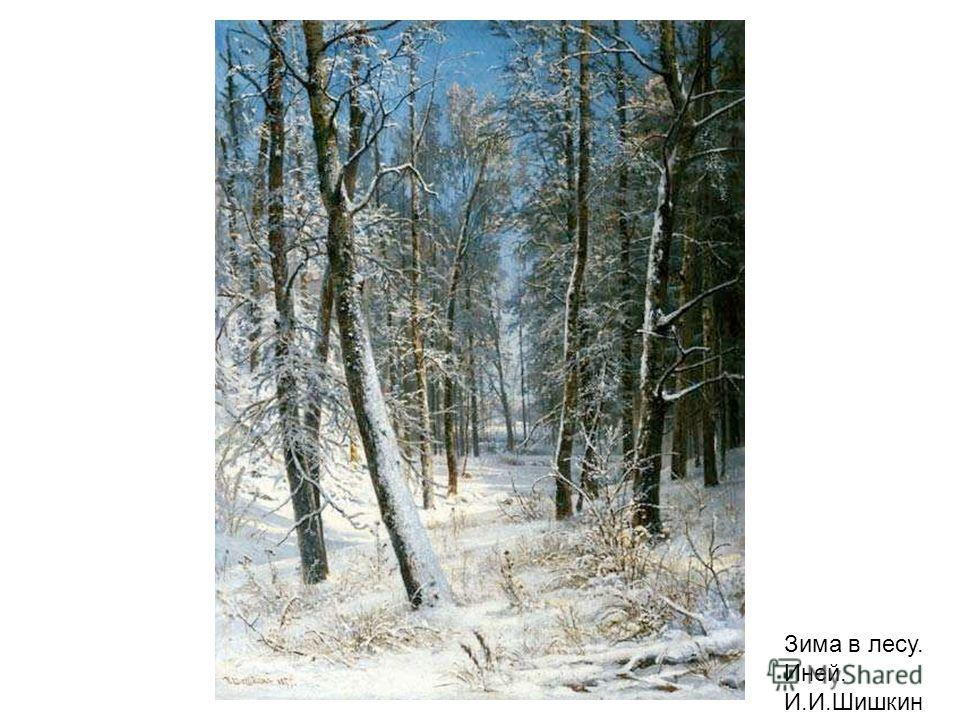 Зима в лесу. Иней. И.И.Шишкин Зима в лесу. Иней. И.И.Шишкин.