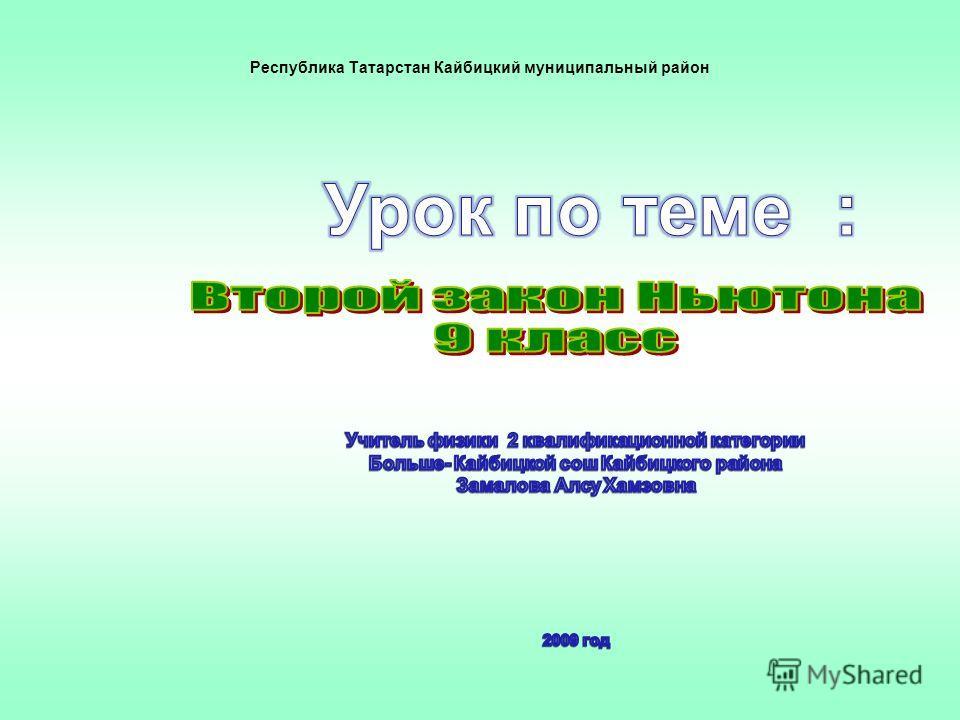 Республика Татарстан Кайбицкий муниципальный район