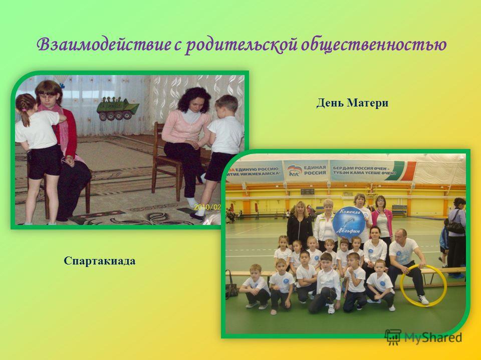 Взаимодействие с родительской общественностью День Матери Спартакиада