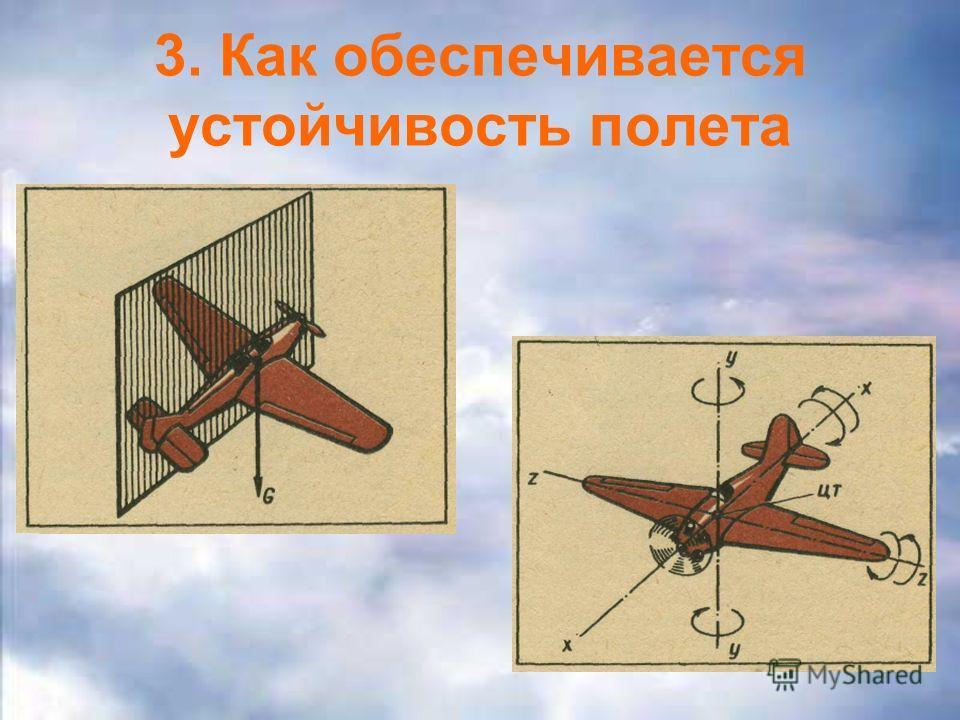 3. Как обеспечивается устойчивость полета