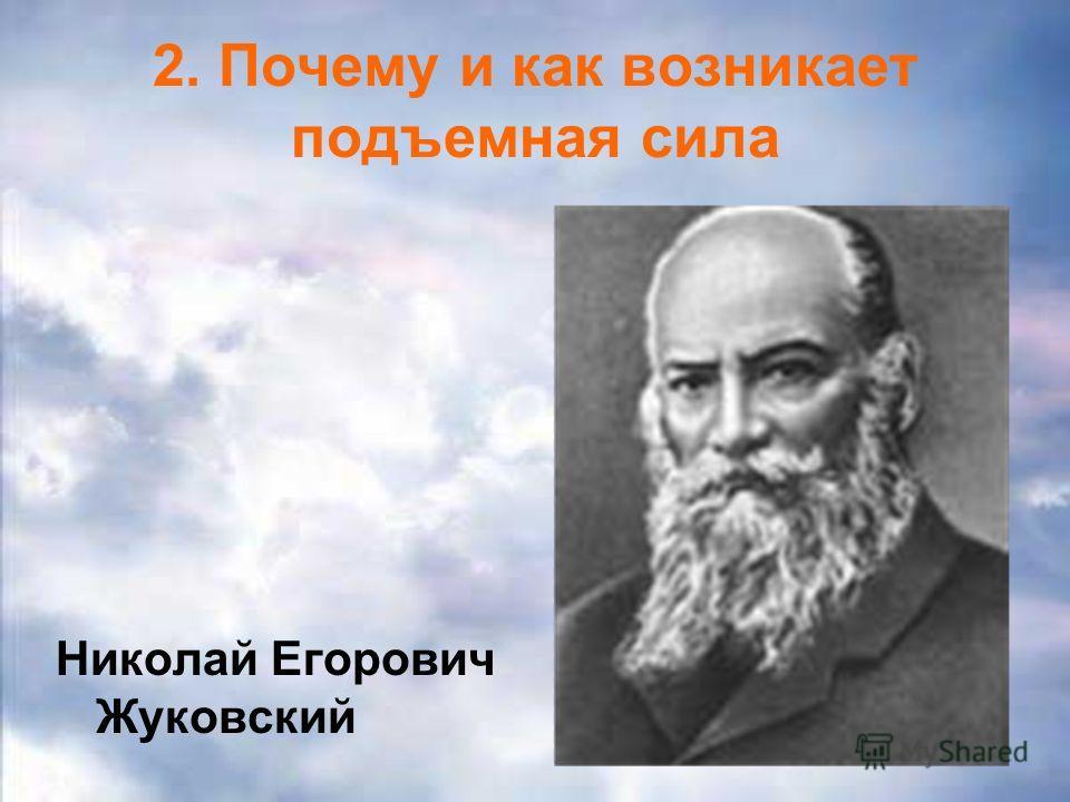 2. Почему и как возникает подъемная сила Николай Егорович Жуковский