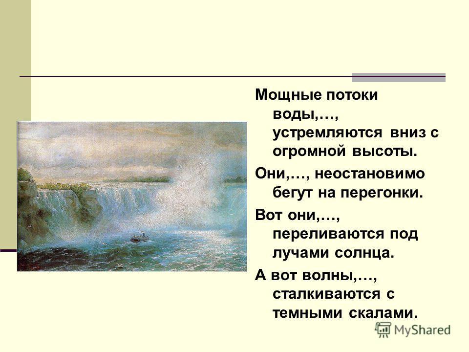 И.Айвазовский. Ниагарский водопад.