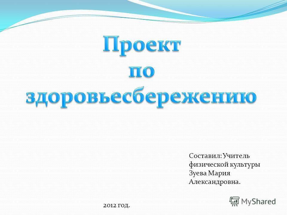 Составил: Учитель физической культуры Зуева Мария Александровна. 2012 год.