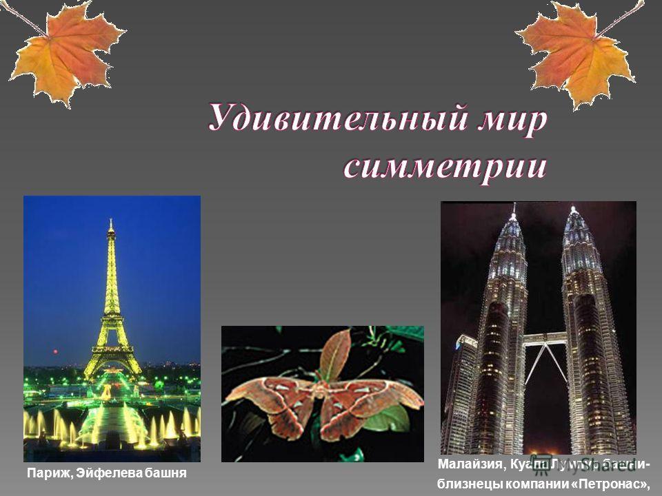 Малайзия, Куала Лумпур башни- близнецы компании «Петронас», Париж, Эйфелева башня