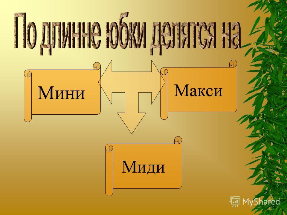 Мини Миди Макси