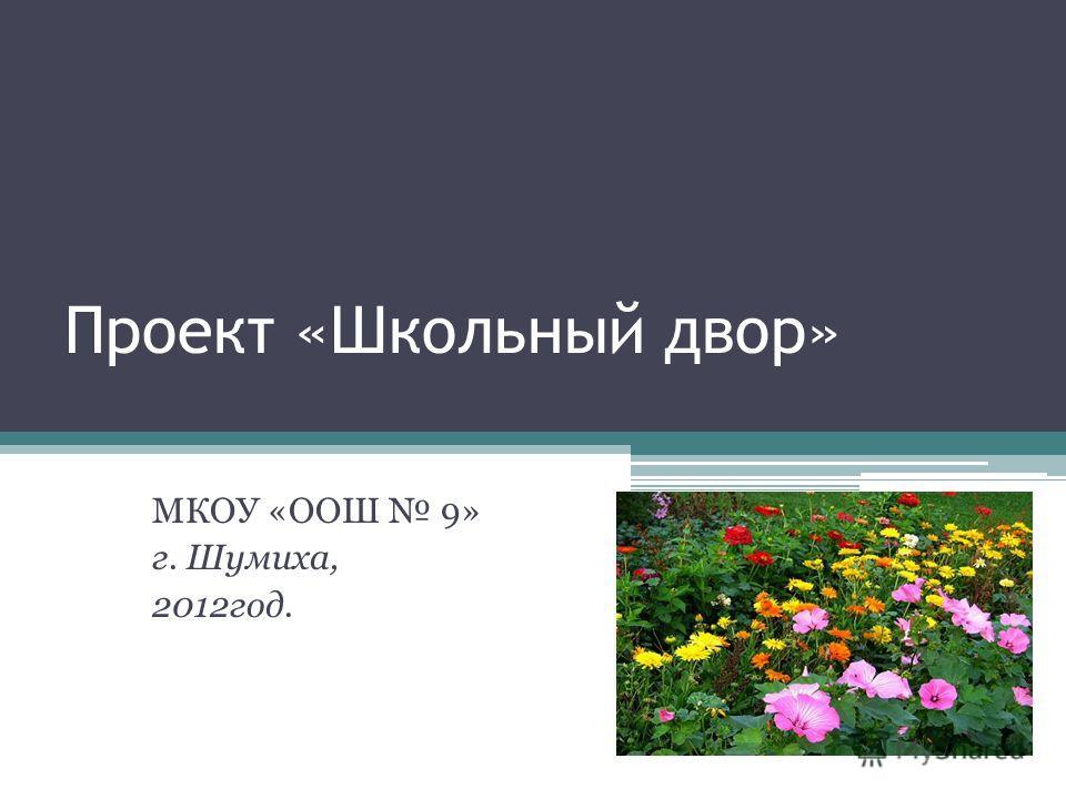 Проект «Школьный двор» МКОУ «ООШ 9» г. Шумиха, 2012год.