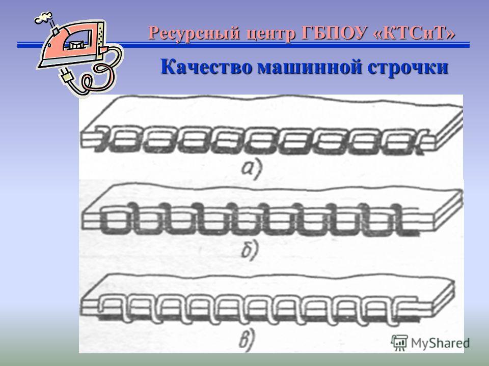 Ресурсный центр ГБПОУ «КТСиТ» Качество машинной строчки