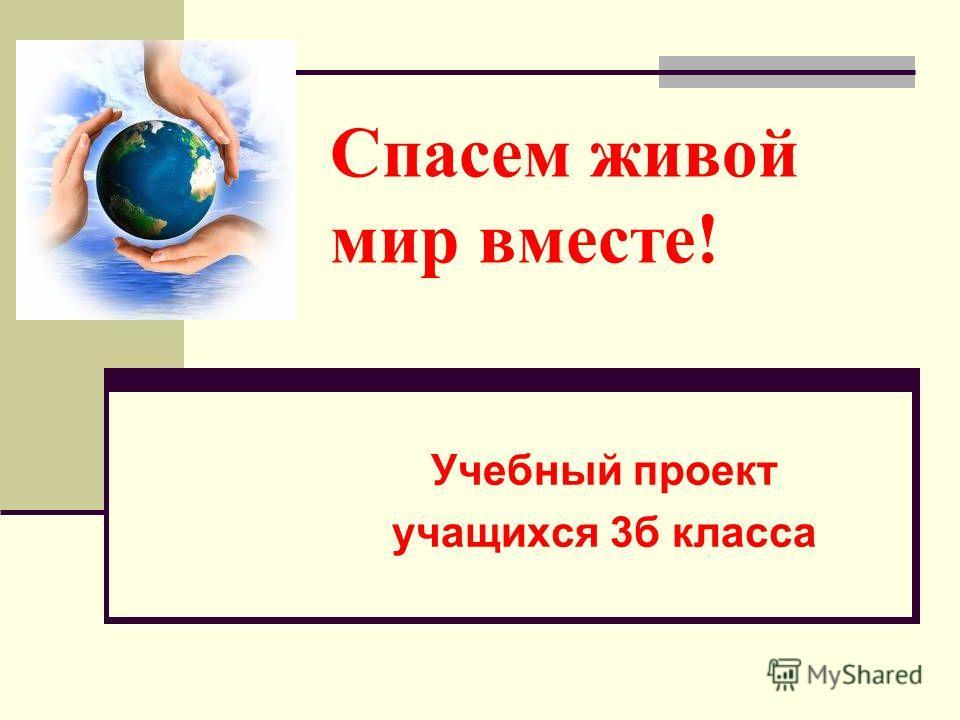 Спасем живой мир вместе! Учебный проект учащихся 3б класса
